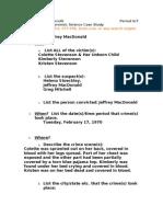 Jeff MacDonald Case Study