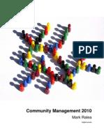 Community Management 2010 English