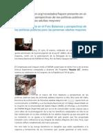 Httpfiapam Presente en El Foro Balances y Perspectivas de Las Politicas