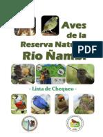 AVES DE LA RESERVA NATURAL RIÓ ÑAMBI