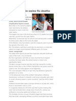 Global Jump in Swine Flu Deaths