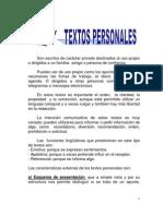 TEXTOS PERSONALES