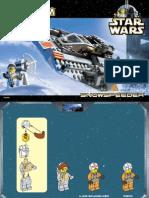 LEGO Snowspeeder Instruction Manual Set 7130