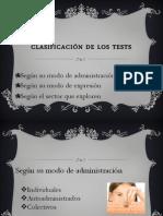 Clasificación de los Tests