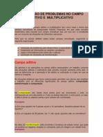 RESOLUÇÃO DE PROBLEMAS NO CAMPO ADITIVO E