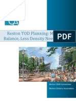 Reston TOD Planning More Balance Less Density Final 071811