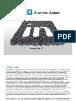 LinkedIn Business Update November 2011