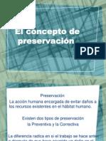 2.3 concepto de preservacion