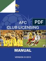 AFC Club Licensing Manual 1-2010