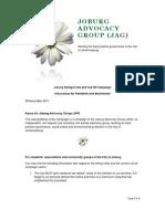JAG Cut-Off Campaign Information Leaflet