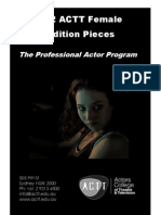 2012 ACTT Female Audition Pieces