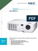 NEC NP215 Portable Projector