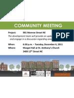 2011 1206 Community Meeting Flyer
