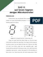 BAB 3 III Aplikasi Seven Segmen Dengan Mikrokontroller
