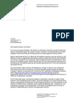 111128 Partner Brief Zwischenstand Sondermassnahmen De