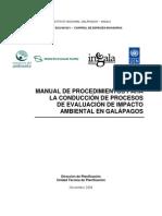 Manual Procedimientos Conduccion Estudio Impacto Ambiental
