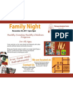 Nov Family Night