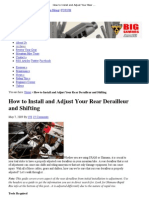 How to Install and Adjust Your Rear Derailleur and Shifting _ Mountain Biking - Bike198
