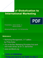 Impact of Globalization to International Marketing