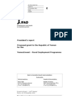 2011 IFAD Report  - Proposed grant to the Republic of Yemen  for the  YemenInvest – Rural Employment Programm