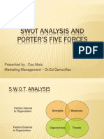 SWOT and PORTER-  -²S FIVE FORCES