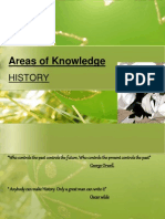 Areas of Knowledge History