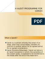 Shariah Audit Programme of Ijarah