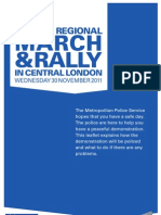 Met Rally March Leaflet