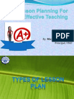 Lesson Planning for Effective Teaching Ppoint (Final Pp)