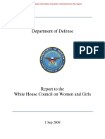 DoD WHC on Women and Girls Report Personal Info Redacted C82A