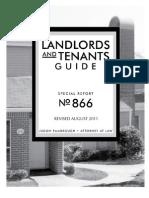 Landlord&TenantGuide TexasA&M Aug2011 Report# 866
