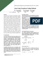 Transform Coding Methods