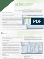 Overview of Hovitaga Report Generator