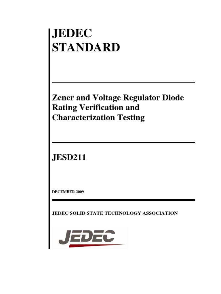 Jesd211 Diode Pn Junction Zener Breakdown Phenomen In Semiconductor