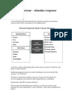 Buyer Behaviour - Stimulus-response Model