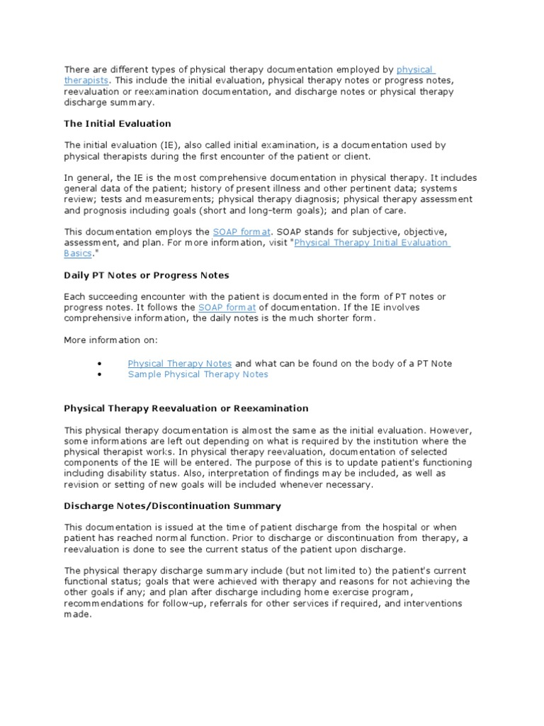 physical therapy documentation physical therapy With home care physical therapy documentation