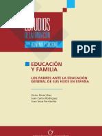Educación y familia. Los padres ante la educación general de sus hijos en España