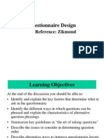 Questionnaire Design 8