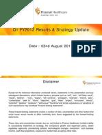 PHL - Q1FY2012 Results Analyst Presentation