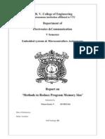 Methods of Program Size Reduction