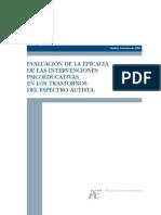 Evaluación de la eficacia de las intervenciones Psicoeducativas en los trastornos del Espectro Autista- ISCiii
