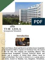 The Training Report at the Leela Kempinski,Mumbai