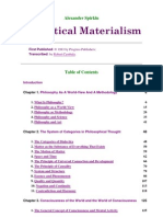 Book Dialectical Materialism