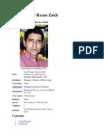 Syed Manzar Hasan Zaidi