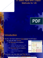 Lecture 9 - Data Input and Output Methods