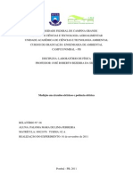 relatorio Medição em circuitos elétricos e potência elétrica