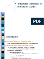 Lecture 11' Structural Transitions in Nucleic Acids I