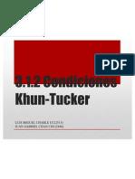 Las Condiciomes de Kuhn-tucker