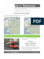 Paul Hillsdon's Transit for Tomorrow Plan