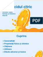 Acidul Citric ( Nicoleta Tupita)